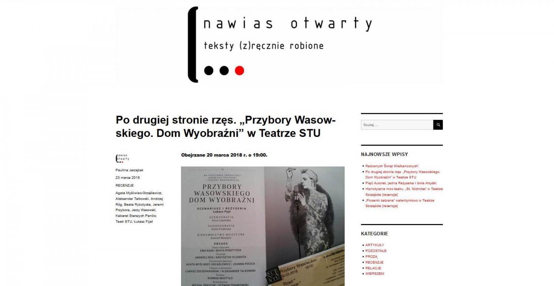 """RECENZJA: Po drugiej stronie rzęs. """"Przybory Wasowskiego. Dom Wyobraźni"""" w Teatrze STU"""