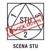 Scena STU Logotyp lockdown