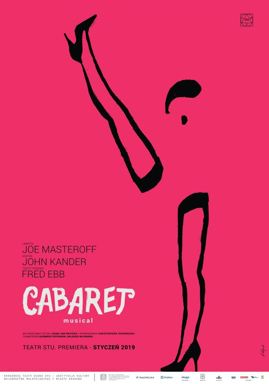 Cabaret plakat mniej r